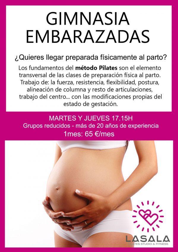 Gimnasia para embarazadas Pilates
