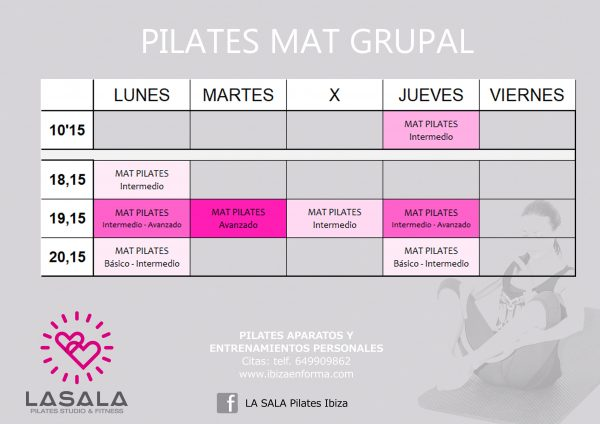horario la sala pilates mat
